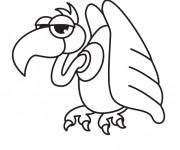 Coloriage et dessins gratuit Vautour humoristique à imprimer