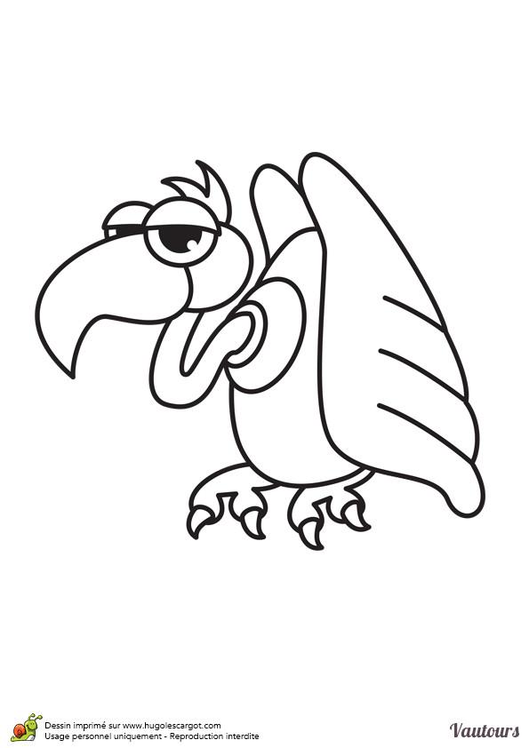 Coloriage et dessins gratuits Vautour humoristique à imprimer