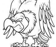 Coloriage et dessins gratuit Vautour méchant à imprimer