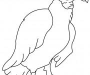 Coloriage et dessins gratuit Vautour pour enfant à imprimer