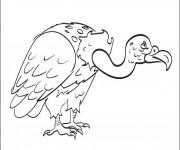 Coloriage et dessins gratuit Vautour stylisé à imprimer
