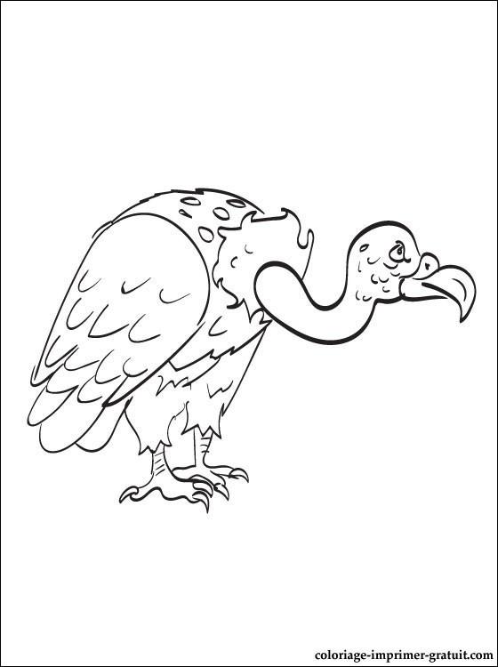 Coloriage et dessins gratuits Vautour stylisé à imprimer