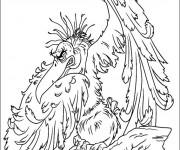 Coloriage vautour tr s m chant dessin gratuit imprimer - Coloriage spiderman mechant ...