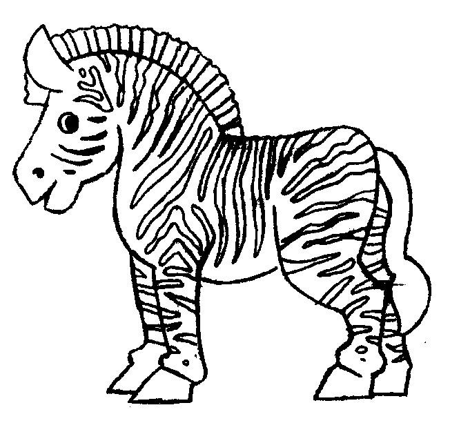 Coloriage Gratuit Zebre.Coloriage Petit Zebre Content Dessin Gratuit A Imprimer