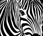 Coloriage et dessins gratuit Tête de Zèbre à imprimer
