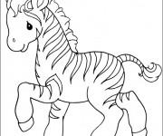 Coloriage dessin  Zebre 14
