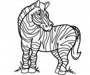 Coloriage dessin  Zebre 3