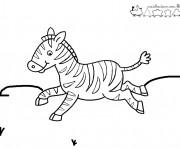 Coloriage dessin  Zebre 4