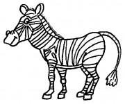 Coloriage Zèbre animal africain