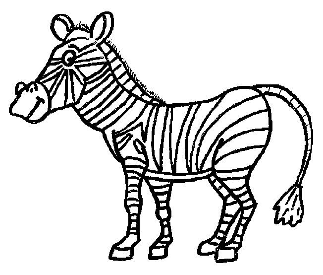 Coloriage et dessins gratuits Zèbre animal africain à imprimer