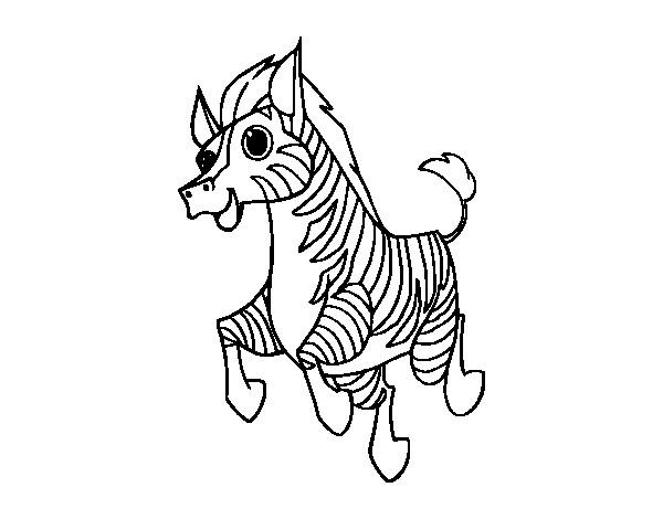 Coloriage et dessins gratuits Zèbre animé à imprimer