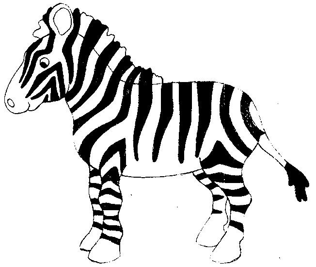 Coloriage Bebe Zebre.Coloriage Zebre Avec Rayure Dessin Gratuit A Imprimer