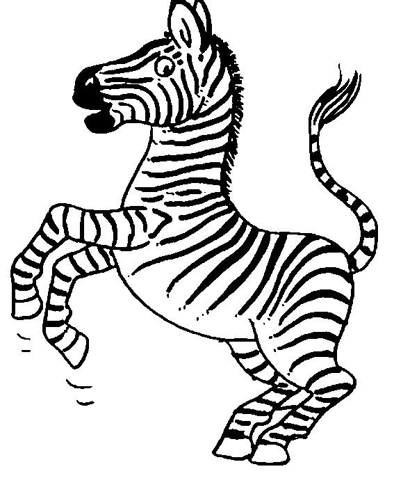 Coloriage et dessins gratuits Zebre en train de sauter à imprimer