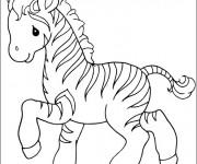 Coloriage et dessins gratuit Zèbre mignon à imprimer