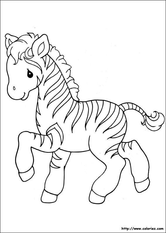 Coloriage z bre mignon dessin gratuit imprimer - Coloriage zebre a imprimer ...