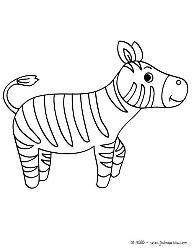 Coloriage et dessins gratuits Zèbre pour enfant à imprimer
