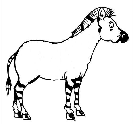 Coloriage z bre sans rayure dessin gratuit imprimer - Zebre a dessiner ...