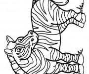Coloriage et dessins gratuit Zèbre souriant à imprimer