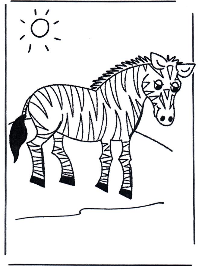 Coloriage et dessins gratuits Zèbre sous le soleil à imprimer