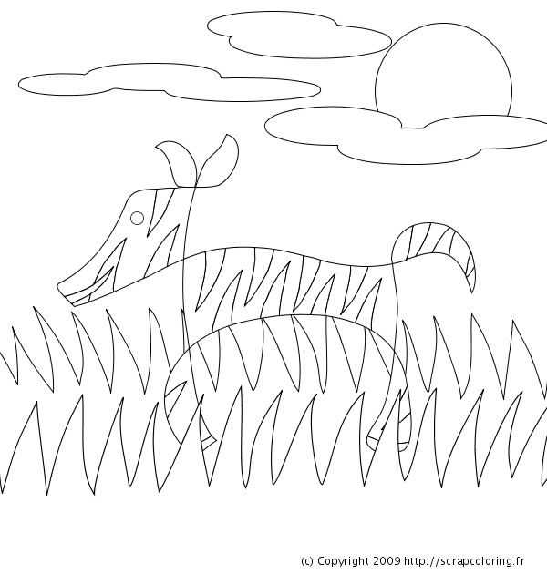 Coloriage et dessins gratuits Zèbre tout à fait simple à imprimer