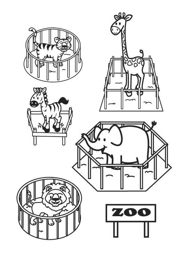 Coloriage et dessins gratuits Animaux dans leurs cages à imprimer