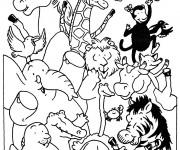 Coloriage et dessins gratuit Animaux de Zoo en ligne à imprimer