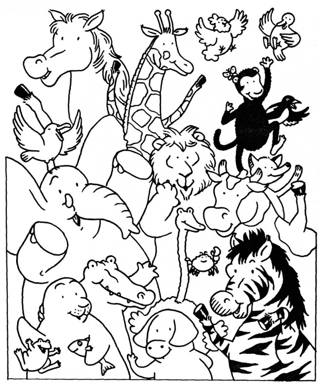 Coloriage et dessins gratuits Animaux de Zoo en ligne à imprimer
