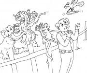 Coloriage et dessins gratuit Animaux de Zoo et le photographe à imprimer