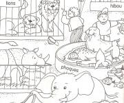 Coloriage Animaux en cages