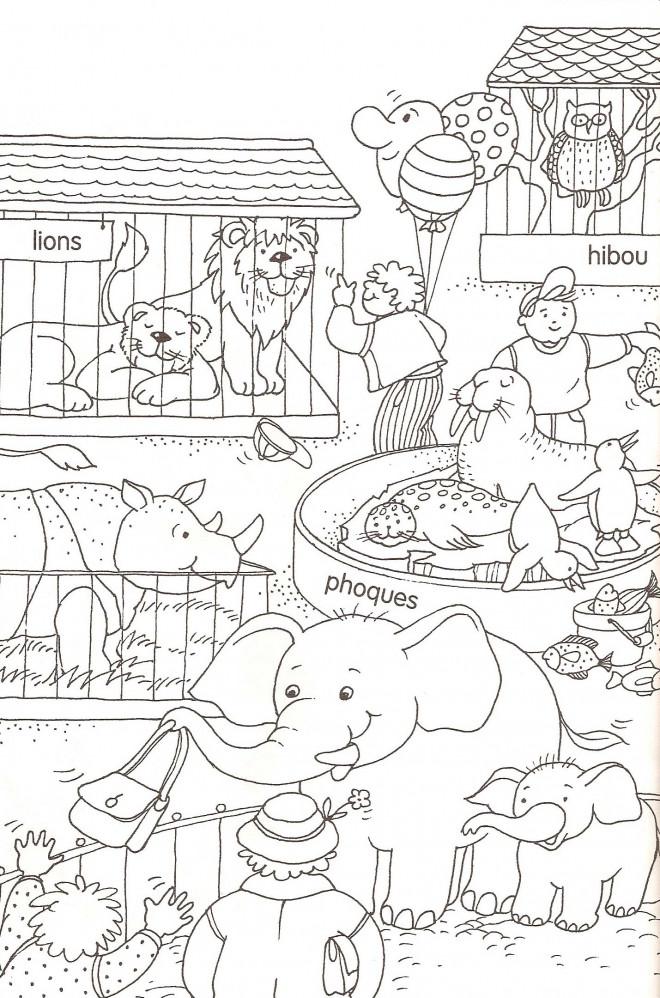 Coloriage et dessins gratuits Animaux en cages à imprimer