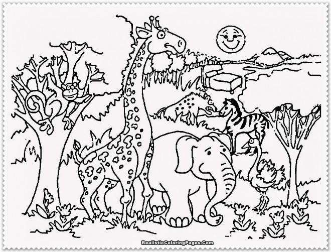 Coloriage et dessins gratuits Animaux en plein air à imprimer