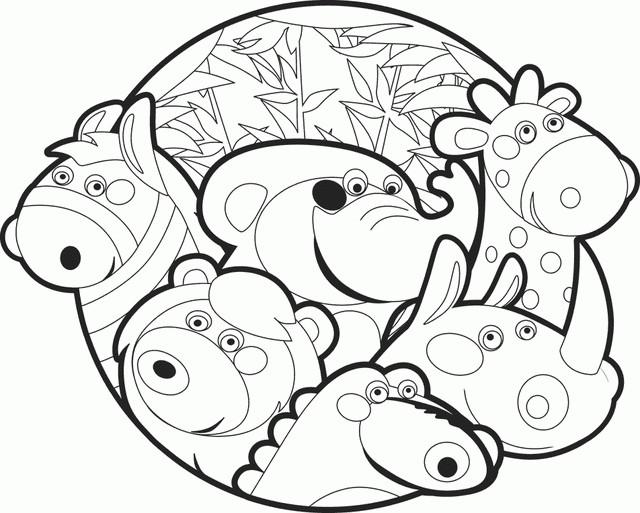 Coloriage et dessins gratuits Animaux vecteur à imprimer
