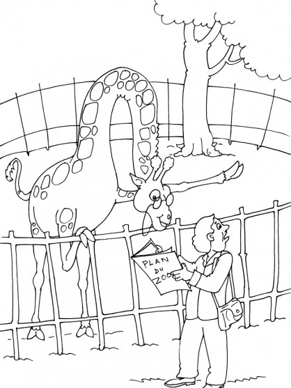 Coloriage et dessins gratuits Giraffe humoristique à imprimer