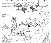Coloriage et dessins gratuit Le jardin Zoo à imprimer