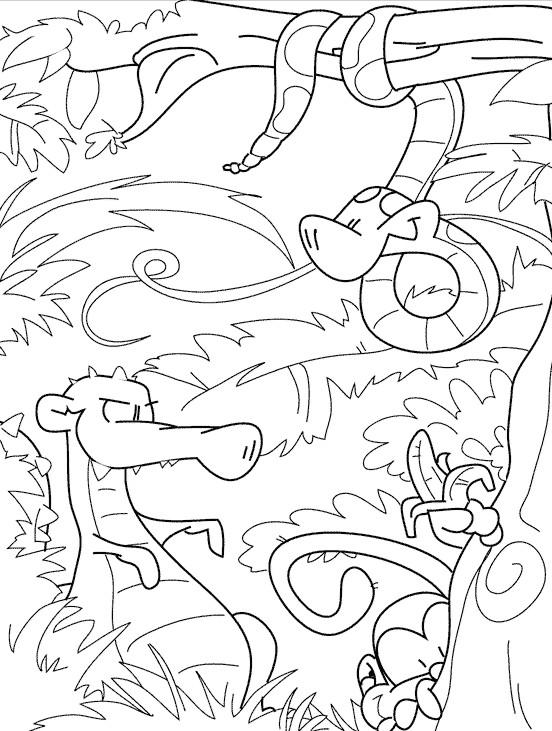 Coloriage et dessins gratuits Le  serpent sur l'arbre à imprimer