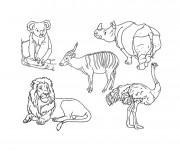 Coloriage Les animaux en noir et blanc