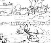 Coloriage et dessins gratuit Un parc zoologique à imprimer