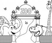 Coloriage dessin  Zoo 3