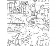 Coloriage et dessins gratuit Zoo couleur à imprimer