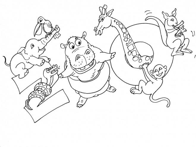 Coloriage et dessins gratuits Zoo et Animaux à imprimer