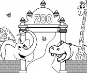 Coloriage Zoo maternelle
