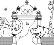 Coloriage et dessins gratuit Zoo maternelle à imprimer