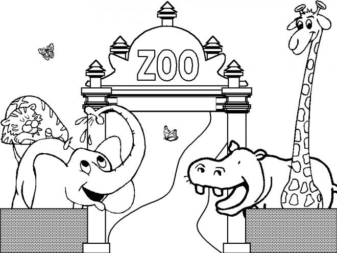 Coloriage Zoo Gratuit A Imprimer