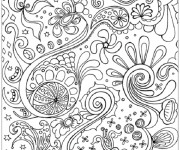 Coloriage et dessins gratuit Abstrait 13 à imprimer
