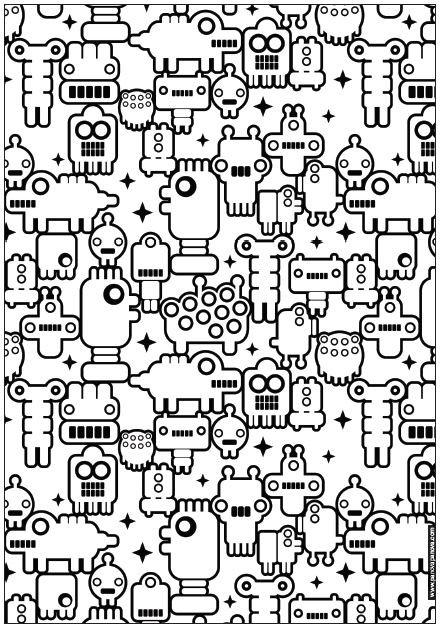 Coloriage et dessins gratuits Abstrait 44 à imprimer