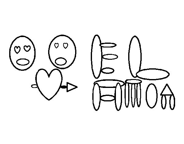 Coloriage et dessins gratuits Abstrait Amour à imprimer