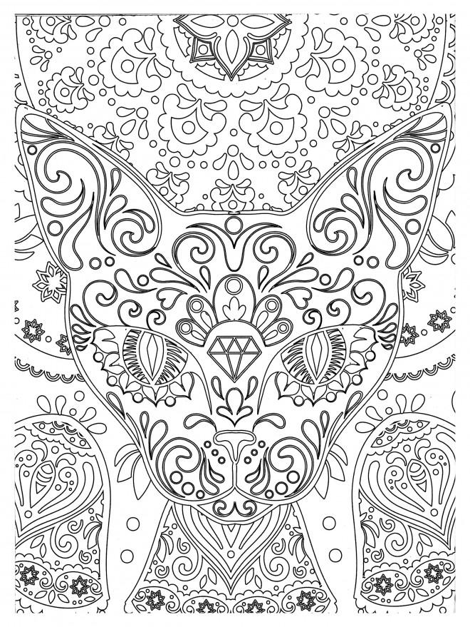 Coloriage et dessins gratuits Abstrait Anti-Stress à imprimer