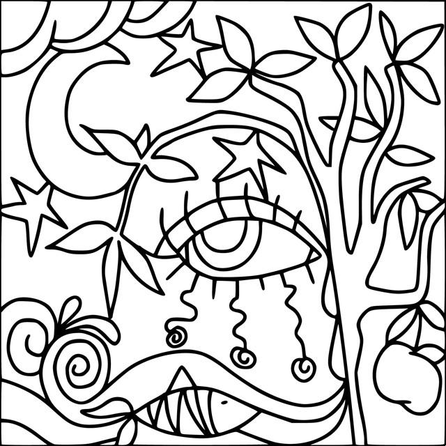 Coloriage et dessins gratuits Abstrait Arbres à imprimer