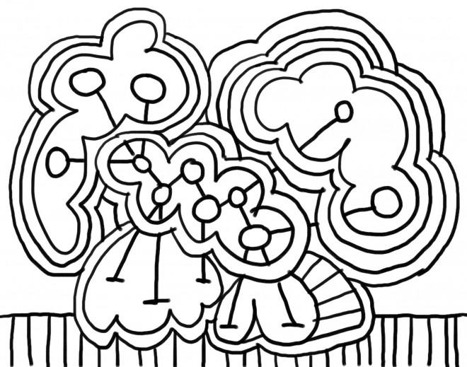Coloriage et dessins gratuits Abstrait au crayon à imprimer