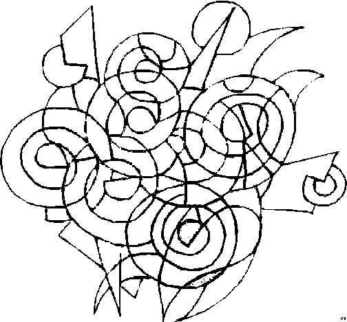 Coloriage et dessins gratuits Abstrait circulaire à imprimer